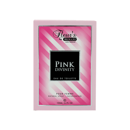 Fleur's by Hemani Herbals Perfumes are an exception of delicacy classics, with blends of clean, fresh and sophisticated scents, for both men and women. Eau de Toilette. Pink Divinity for Women - A fresh feminine scent balanced with a floral divinity