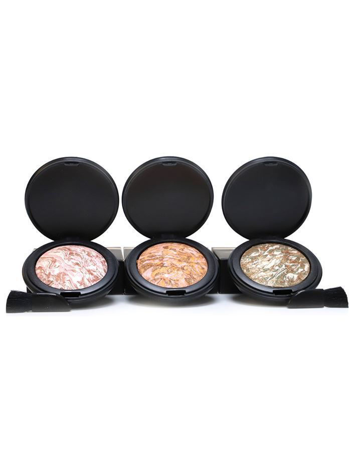 herbal infused beauty illuminating baked powder trio