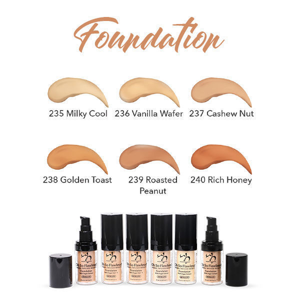 HERBAL INFUSED BEAUTY Foundation Swatches