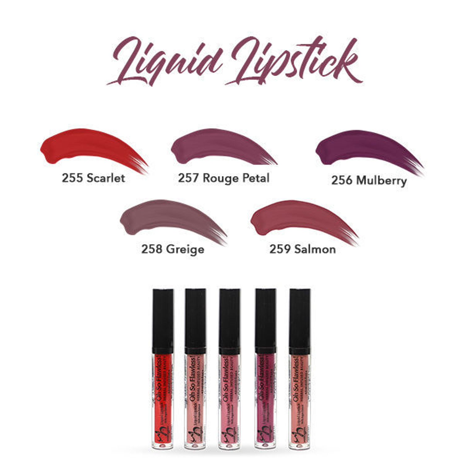 HERBAL INFUSED BEAUTY Liquid Lipstick Swatches