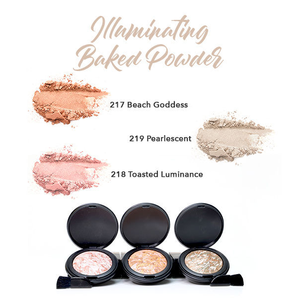 HERBAL INFUSED BEAUTY Illuminating Baked Powder swatches