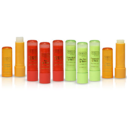 Hemani Herbal Lip Balm Natural Aloe Vera Green Apple Rose Pomegranate Peppermint Citrus Candy Floss