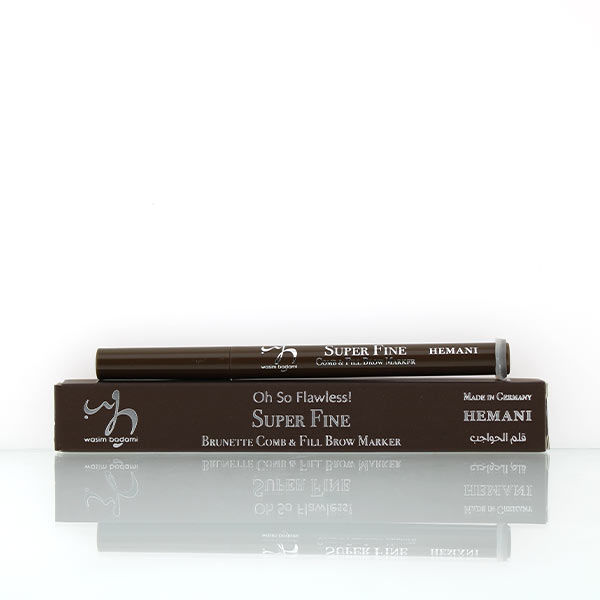 wb by hemani oh so flawless super fine comb and fill brow marker - brunette