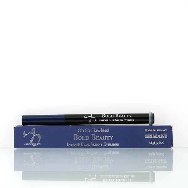 wb by hemani oh so flawless bold beauty skinny eyeliner - intense blue