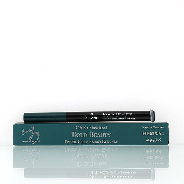wb by hemani oh so flawless bold beauty skinny eyeliner - petrol green