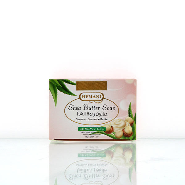 hemani herbal soap 75g shea butter and aloe vera soap for soothing, calm and moisturized skin