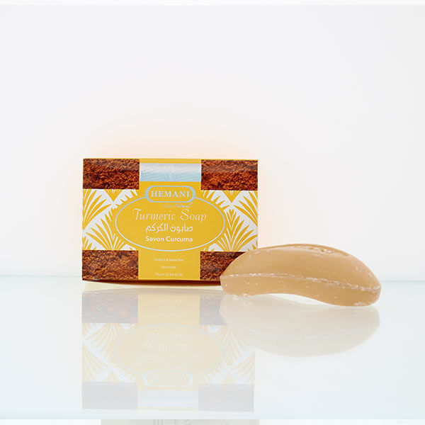 hemani herbal soap 75g turmeric soap for reduced dark spots and blemishes and clear bright skin removes sun tan