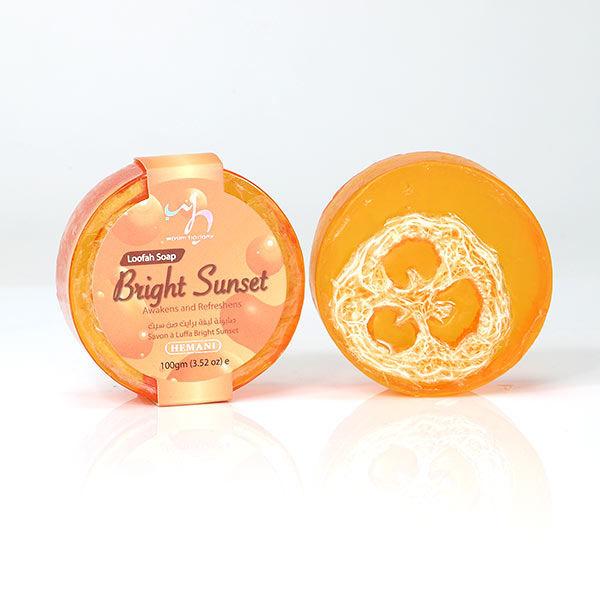 WB by Hemani Loofah Soap - Bright Sunset invigorating citrusy scent