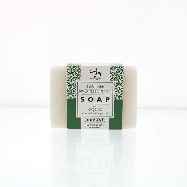 WB by Hemani Herbal Soap with Organic Argan Oil & Organic Coconut Oil - Tea Tree & Peppermint