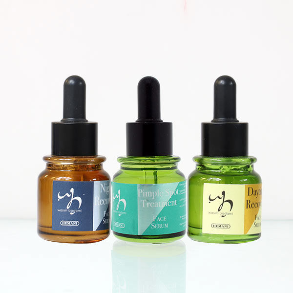 WB by Hemani Night Recovery Face Serum - Daytime Recovery Face Serum - Pimple Spot Treatment Face Serum