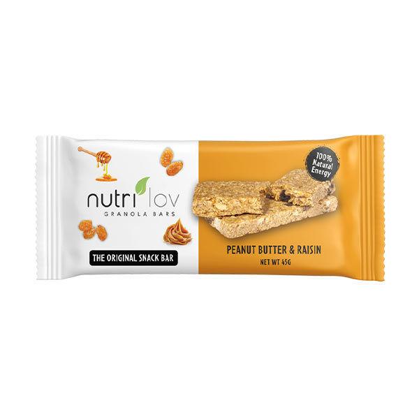 Nutrilov Peanut Butter & Raisin Granola Bar