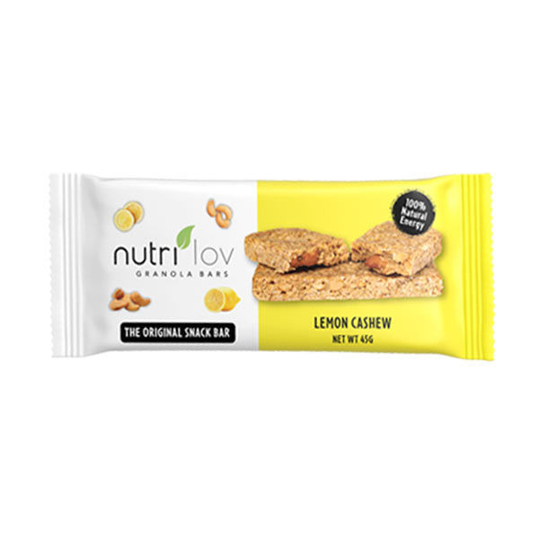 Nutrilov Lemon Cashew Granola Bar