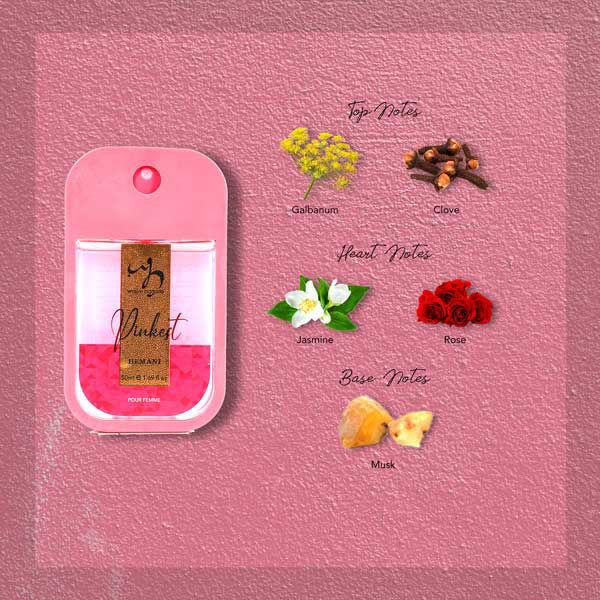 WB by Hemani pocket Perfume - Pinkest 50ml Notes